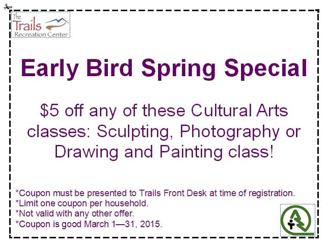 Cultural Arts Coupon - March 2015