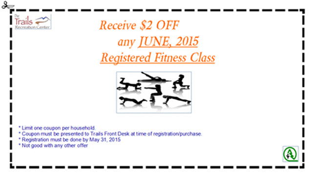 Fitness Coupon - May 2015