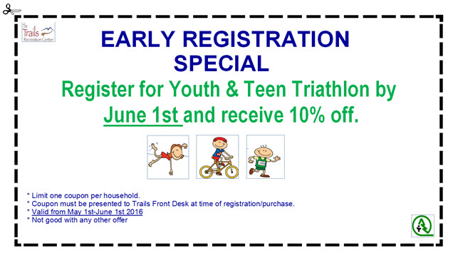 Fitness Coupon Youth Tri 2016