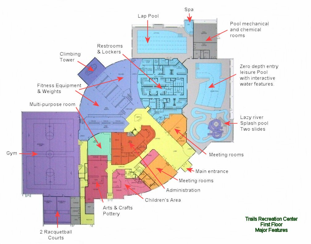 House Construction Plan Of Recreation Center Drawings